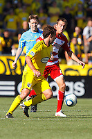 28 AUGUST 2010:  Adam Moffat of the Columbus Crew (22) during MLS soccer game between FC Dallas vs Columbus Crew at Crew Stadium in Columbus, Ohio on August 28, 2010.