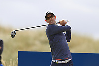 Dylan Frittelli (RSA) tees off the 15th tee during Thursday's Round 1 of the 2018 Dubai Duty Free Irish Open, held at Ballyliffin Golf Club, Ireland. 5th July 2018.<br /> Picture: Eoin Clarke | Golffile<br /> <br /> <br /> All photos usage must carry mandatory copyright credit (&copy; Golffile | Eoin Clarke)