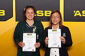 Girls Golf finalists Jesse Hamilton and Lydia Ko. ASB College Sport Young Sportsperson of the Year Awards held at Eden Park, Auckland, on November 24th 2011.