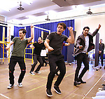 """The cast during the open press rehearsal for """"A Bronx Tale - The New Musical""""  at the New 42nd Street Studios on October 21, 2016 in New York City."""