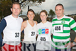 MINI: Getting ready to run in the 10k Mini Marathon to raise funds for the Tralee Branch of the Carers Association outside the Brandon Hotel, Tralee on Sunday l-r: Shane Kelly,Emma Mullane, Ciara Tierney and Martin Tierney...