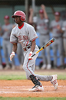 February 22, 2009:  Outfielder Evan Crawford (7) of Indiana University during the Big East-Big Ten Challenge at Naimoli Complex in St. Petersburg, FL.  Photo by:  Mike Janes/Four Seam Images