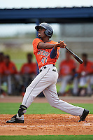 GCL Astros designated hitter Edgar Lorenzo (41) at bat during a game against the GCL Nationals on August 14, 2016 at the Carl Barger Baseball Complex in Viera, Florida.  GCL Nationals defeated GCL Astros 8-6.  (Mike Janes/Four Seam Images)
