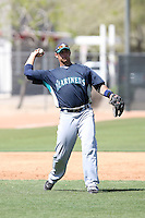 Matt Mangini, Seattle Mariners 2010 minor league spring training..Photo by:  Bill Mitchell/Four Seam Images.