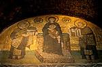 Turkey, Istanbul. The Kariye museum, Byzantine mosaic at the 11th century church of St. Saviour