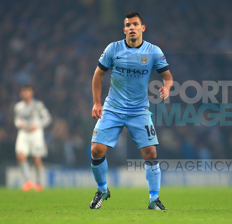 Sergio Aguero of Manchester City - Manchester City vs. CSKA Moscow - UEFA Champions League - Etihad Stadium - Manchester - 05/11/2014 Pic Philip Oldham/Sportimage