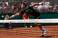 Ross Huthcins (GBR) & Jordan Kerr (AUS) against Daniel Nester (CAN) (2) & Nenad Zimonjic (SRB) (2) in the first round of the men's doubles. Nester & Zimonjic beat Hutchins & Kerr 7-6 4-6 7-6..Tennis - French Open - Day 6 - Fri 29 May 2010 - Roland Garros - Paris - France..© FREY - AMN Images, 1st Floor, Barry House, 20-22 Worple Road, London. SW19 4DH - Tel: +44 (0) 208 947 0117 - contact@advantagemedianet.com - www.photoshelter.com/c/amnimages