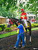 American Cotton before The Longines Fegentri Gentlemen Championship at Delaware Park on 7/24/17 Pablo Fernandez, up