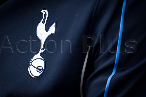 18.07.2015.  Peterborough, Engand. Pre Season Friendly Peterborough United versus Tottenham Hotspur. Badge detail of a Tottenham Hotspur shirt.