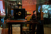 Cinematograph on display at the Institut Lumiere, Lyon, France, 13 January 2012