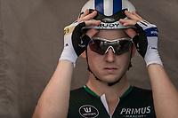 Aim&eacute; De Gendt (BEL/Sport Vlaanderen Baloise) ) awaiting his start. <br /> <br /> Baloise Belgium Tour 2018<br /> Stage 3: ITT Bornem - Bornem (10.6km)
