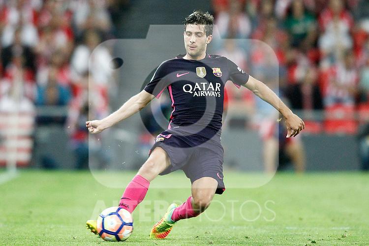 FC Barcelona's Sergi Roberto during La Liga match. August 28,2016. (ALTERPHOTOS/Acero)