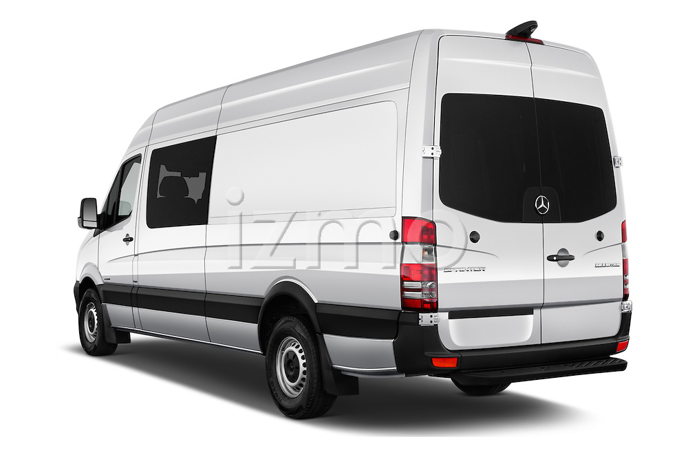 Car pictures of rear three quarter view of 2017 Mercedes Benz Sprinter-Crew-Van 2500-170-WB-High-Roof 4 Door Combi Angular Rear