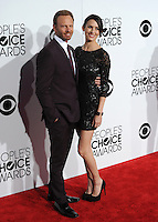 Ian Ziering & wife at the 2014 People's Choice Awards at the Nokia Theatre, LA Live.<br /> January 8, 2014  Los Angeles, CA<br /> Picture: Paul Smith / Featureflash