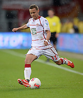 Fussball 1. Bundesliga 2012/2013: Relegation  Bundesliga / 2. Liga  TSG 1899 Hoffenheim  - 1. FC Kaiserslautern          23.05.2013 Chris Loewe (Kaiserslautern) Einzelaktion am Ball