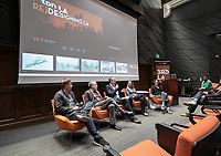 "Panel, from left: Lorcan O'Herlihy, Founding Principal of Lorcan O'Herlihy Architects; Michael B. Lehrer, Founding Partner and President, Lehrer Architects LA; Christopher Hawthorne; Becky Gross, Program Manager, Innovation Delivery Team, the Mayor's Office of Budget and Innovation; Amy Anderson, Chief Housing Officer, the Mayor's Office of City Homelessness Initiatives.<br /> Occidental College's thought-provoking Third L.A. series presents, ""L.A. House and Home: New Paths in Housing Policy and Residential Architecture"" on Monday, December 2, 2019 in Choi Auditorium and moderated by Christopher Hawthorne, Oxy professor of practice and Chief Design Officer, Design Office, the Mayor's Office of Economic Development.<br /> This 3rd L.A. event brought together policymakers and leading architects as they discussed and summarized L.A.'s homelessness, housing affordability and single-family zoning, which are squarely at the top of the policy agenda across California. Furthermore, Los Angeles is engaged in a growing national conversation around the relationship between good design and good housing and the legacies of redlining and exclusionary zoning.<br /> (Photo by Marc Campos, Occidental College Photographer)"