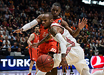 7Day EuroCup Semifinals Game 3.<br /> Valencia Basket Club (90)-(75) Hapoel Bank Yahav Jerusalem.<br /> Fuente de San Luis Pavillion (aka La Fonteta).<br /> Valencia, Valencia (Spain).<br /> 2017, march 22.