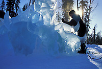 Ice sculptor, World Ice Sculpting Championships, Fairbanks, Alaska