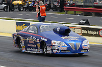 May 10, 2013; Commerce, GA, USA: NHRA pro stock driver Kurt Johnson during qualifying for the Southern Nationals at Atlanta Dragway. Mandatory Credit: Mark J. Rebilas-
