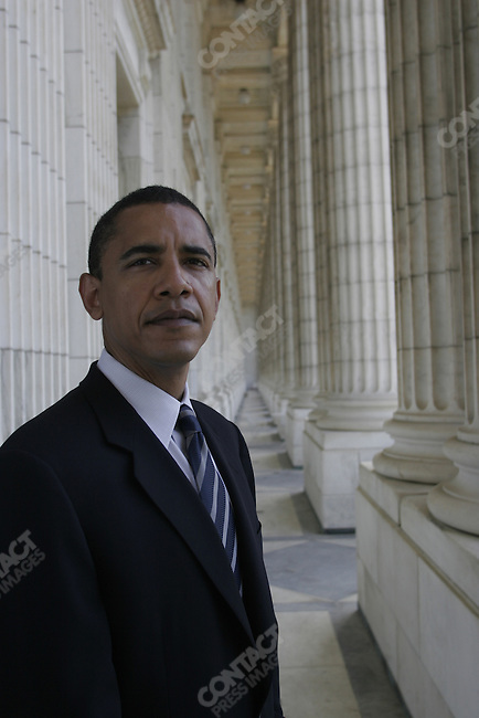Senator Barack Obama at the Lincoln Memorial, Washington DC, USA, June 9, 2005.