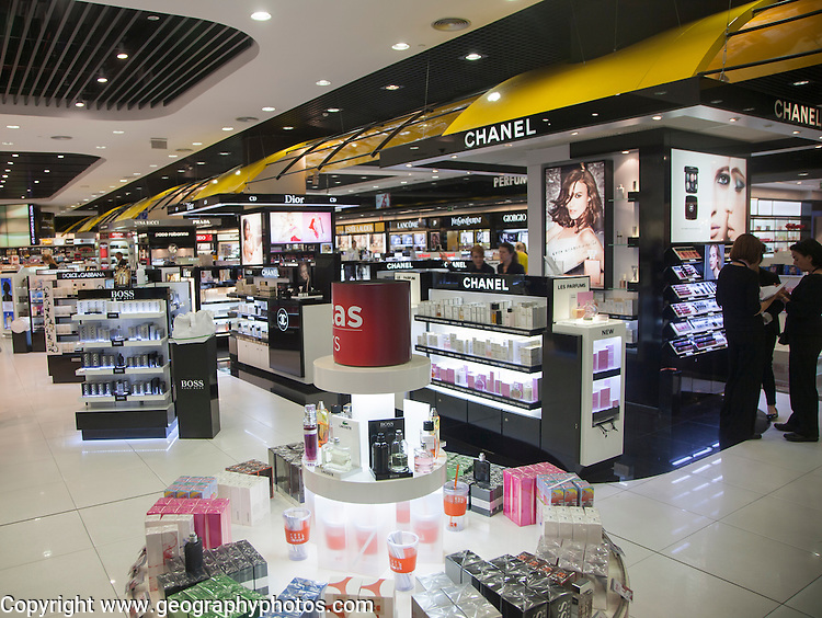 Duty Free shopping lounge in Malaga airport, Spain