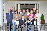 TOASTING: Padraig and Carmel McGillicuddy of Ballygarry House Hotel and Spa, Tralee celebrated the opening of the new extion of their Hotel on Sunday with family. Front Padraig and carmel McGillcuddy. Back l-r: Sean McGillcuddy, John Keane, Veronica Freeman, Marie Costello, Jacke..Kelly, Helen Casey, Katie McQuinn, Tadhg and Sharon McGillcuddy...........