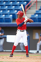 Washington Nationals Blake Perkins (27) during an Instructional League game against the Atlanta Braves on September 30, 2016 at Space Coast Stadium in Melbourne, Florida.  (Mike Janes/Four Seam Images)