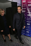 """Dagmara Domińczyk and Patrick Wilson attends The American Associates of the National Theatre's Gala celebrating Tony Kushner's """"Angels in America"""" on March 11, 2018 at the Ziegfeld Ballroom,  in New York City."""