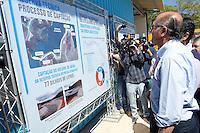 NAZARE PAULISTA, 21 DE AGOSTO DE 2014 - GOVERNADOR GERALDO ALCKMIN VISITA OBRAS - O governador Geraldo Alckmin visitou na manhã de hoje, 21, as  obras de captação de água da Represa de Atibainha, em Nazaré Paulista, interior de São Paulo. Foto: Paulo Fischer/Brazil Photo Press.