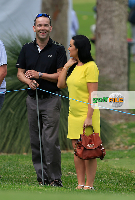 The Lady in Yellow during Round 3 of the ISPS HANDA Perth International at the Lake Karrinyup Country Club on Saturday 25rd October 2014.<br /> Picture:  Thos Caffrey / www.golffile.ie