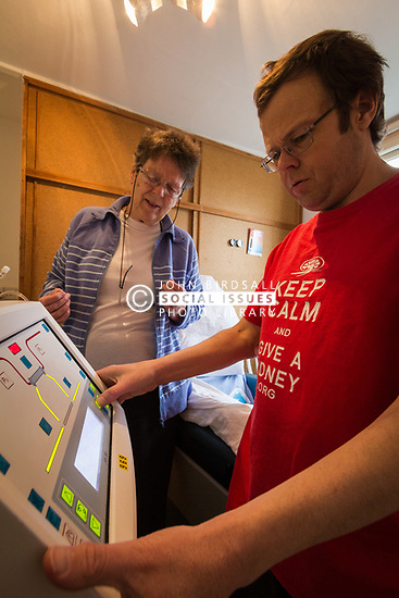 Home dialysis - mum caring for her son UK. MR