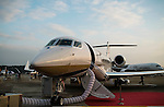 G650ER aircraft by Gulfstream Aerospace Corporation stands on display at the China International Aviation & Aerospace Exhibition (Airshow China 2016) at China International Aviation Exhibition Center on 02 November 2016, in Zhuhai, China. Photo by Marcio Machado / Power Sport Images