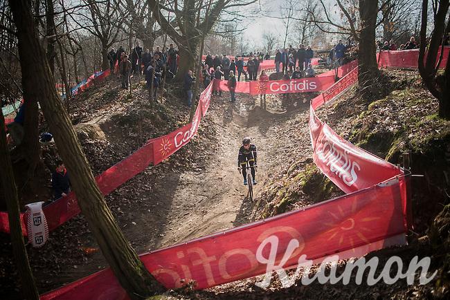 Lars van der Haar (NED/Telenet-Fidea) during the recon ride<br /> <br /> Men's Race<br /> CX Soudal Classics Leuven/Belgium 2017