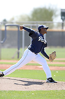Stiven Osuna, San Diego Padres minor league spring training..Photo by:  Bill Mitchell/Four Seam Images.