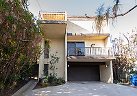 Large house behind Veteran's housing at 4520 Toland Way, Eagle Rock, Los Angeles, Jan. 23, 2019.<br /> (Photo by Marc Campos, Occidental College Photographer)