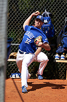 Indiana State Sycamores pitcher Collin Liberatore (32) before a game against the Chicago State Cougars on February 23, 2020 at North Charlotte Regional Park in Port Charlotte, Florida.  Chicago State defeated Indiana State 3-0.  (Mike Janes/Four Seam Images)