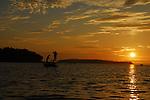 SUNRISE AT CASCO BAY, MAINE FLY FISHING