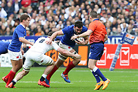 2nd February 2020, Stade de France, Paris; France, 6-Nations International rugby union, France versus England;  Charles Ollivon (France) tackled by Tom Curry