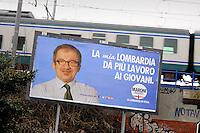 - Campagna elettorale pe le elezioni politiche e regionali Lombardia 2013; Roberto Maroni, Lega Nord....- Electoral  campaign  for parliamentary elections 2013 and regionals in Lombardy; Roberto Maroni, Lega Nord