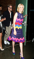 June 25, 2012 Elizabeth Banks and Chris Pine seen leaving Good Morning America in New York City. © RW/MediaPunch Inc. **NORTEPHOTO.COM*<br />