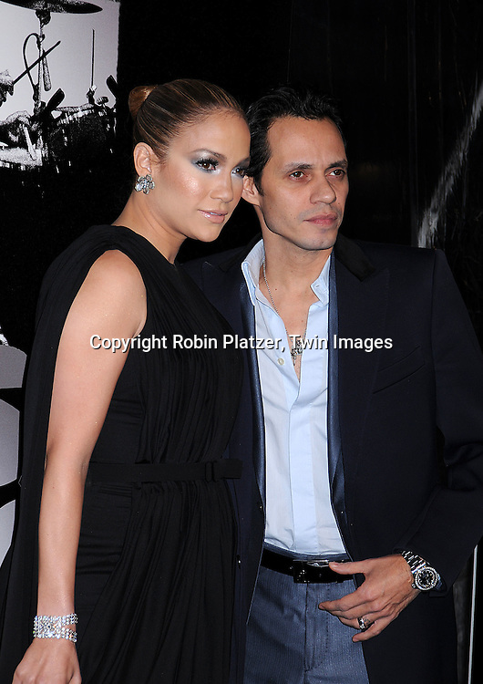 "Jennifer Lopez and husband Marc Anthony.posing for photographers at The ""Shine A Light"" movie premiere on March 30, 2008 atThe Ziegfeld Theatre. .Martin Scorsese directed the movie. .Robin Platzer, Twin Images"