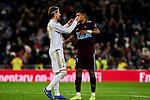 Sergio Ramos of Real Madrid and Jason Murillo of RC Celta de Vigo during La Liga match between Real Madrid and RC Celta de Vigo at Santiago Bernabeu Stadium in Madrid, Spain. February 16, 2020. (ALTERPHOTOS/A. Perez Meca)