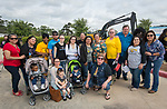 Sam Houston alumni pose for a photograph during a groundbreaking ceremony for new Sam Houston Math, Science and Technology Center School, March 24, 2017.