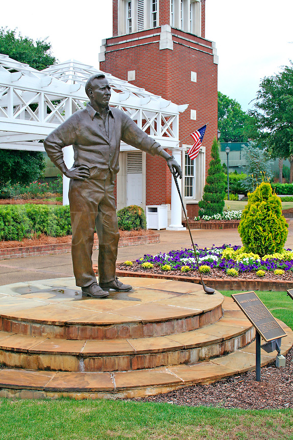 The Georgia Golf Hall of Fame's Botanical Garden Arnold palmer statue Augusta Georgia