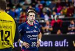 Enttaeuscht - Jan ASMUTH (#23 SG Bietigheim) \ beim Spiel in der Handball Bundesliga, SG BBM Bietigheim - SC DHfK Leipzig.<br /> <br /> Foto &copy; PIX-Sportfotos *** Foto ist honorarpflichtig! *** Auf Anfrage in hoeherer Qualitaet/Aufloesung. Belegexemplar erbeten. Veroeffentlichung ausschliesslich fuer journalistisch-publizistische Zwecke. For editorial use only.