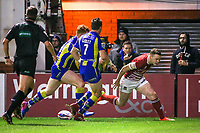 Picture by Alex Whitehead/SWpix.com - 09/03/2017 - Rugby League - Betfred Super League - Warrington Wolves v Wigan Warriors - Halliwell Jones Stadium, Warrington, England - Wigan's Liam Marshall scores a try.