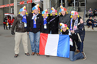French fans soaking up the atmosphere before the RBS 6 Nations match between England and France at Twickenham on Saturday 23rd February 2013 (Photo by Rob Munro)