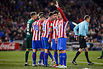 "Atletico de Madrid's Gabriel ""Gabi"" Fernández, Saúl Ñígez, Sime Vrsaljko and Fernando Torres during La Liga match between Atletico de Madrid and Real Betis at Vicente Calderon Stadium in Madrid, Spain. January 14, 2017. (ALTERPHOTOS/BorjaB.Hojas)"