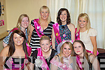 Kerrie Baldock Keel celebrates her hen party with her friends in the Castle bar, Castlemaine on Saturday front row l-r: Claire Flynn, Aisling Flaherty, Kerrie Baldock, Gemma Foley. Back row: Eileen Roche, Gillian Foley, Emily McCarthy and Mary Ladden