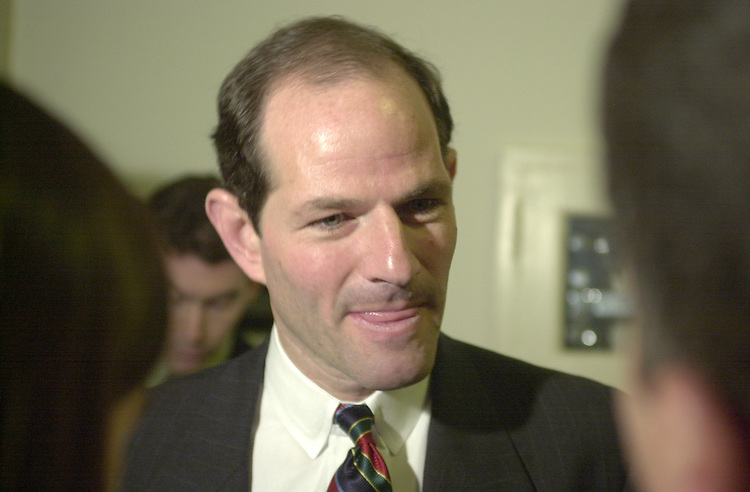 2spitzer110801 -- Eliot Spitzer, Attorney General NY, addresses media in the Longworth Building on Thursday, after testifying.  Spitzer feels that charitable organizations, including the  American Red Cross, has collected to much money from the events of September 11.